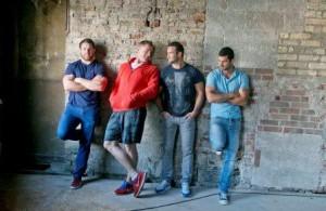 The Leinster boys posing