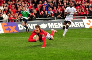 Johne Murphy try v Castres 2012