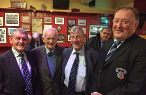 Old Crescent honours survining members of first team to play Dungannon in 1955, 21 January 2017