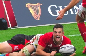Conor Oliver's first try