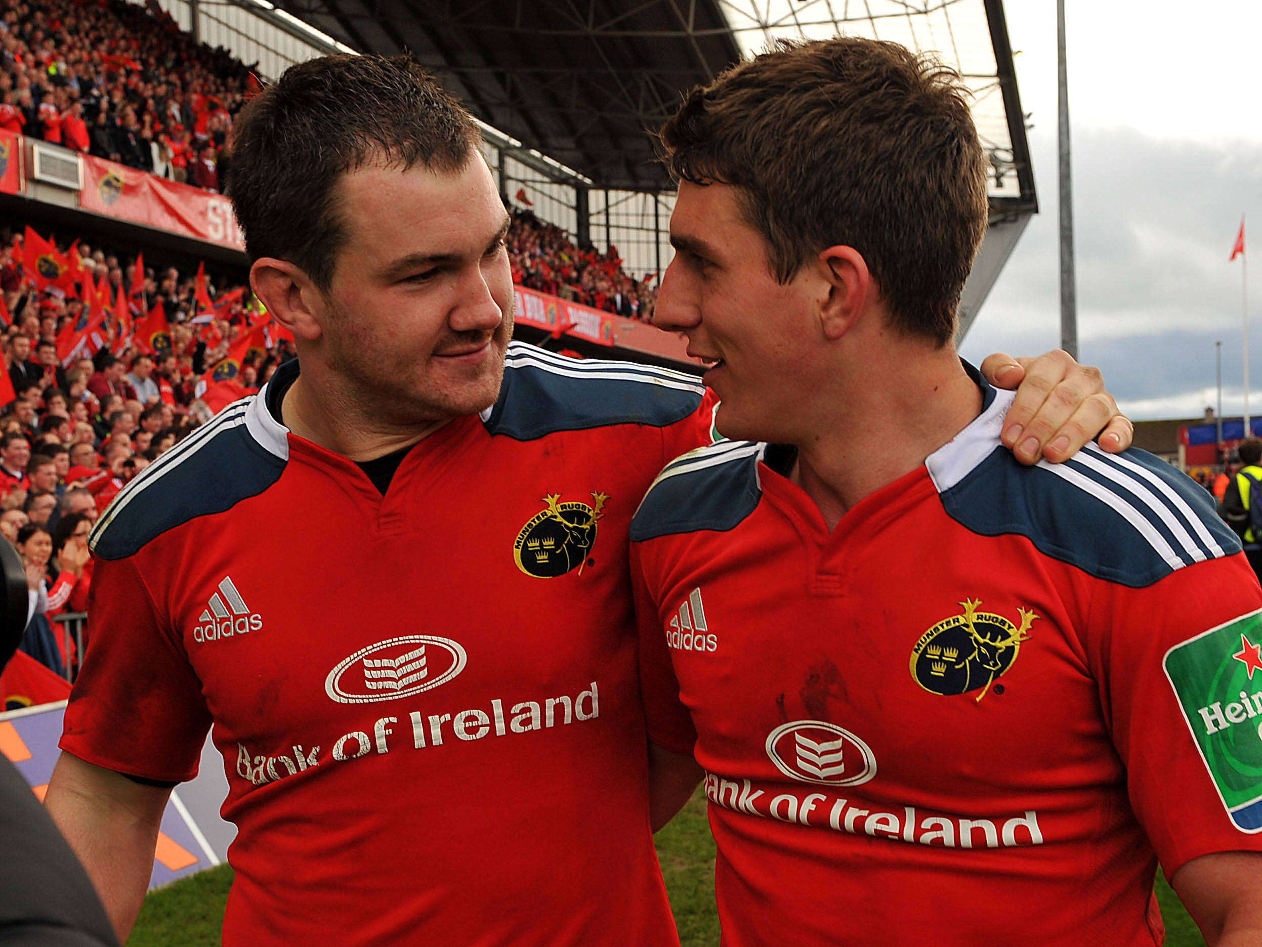 arley and Keatley celebrate win over Toulouse April 2014