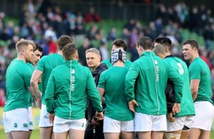 Ireland huddle