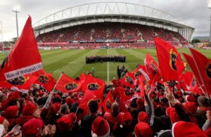 Thomond Park with flags